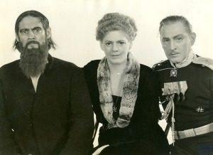 The Three Barrymores as Rasputin, Alexandra, and Chegodieff