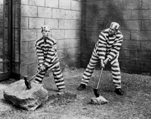 Buster Keaton & Joe Roberts in Convict 13 - Pretty Clever Films