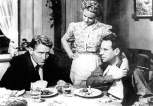 Spencer Tracy, Jessica Tandy, and Hume Cronyn in The Seventh Cross, prettycleverfilms