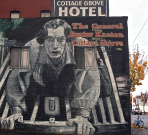 Buster Keaton - The General - Cottage Grove Mural