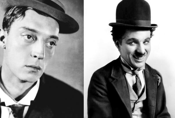Chaplin and Keaton
