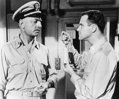 Jack Lemmon and William Powell in Mister Roberts