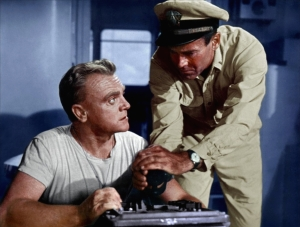 James Cagney and Henry Fonda in Mister Roberts
