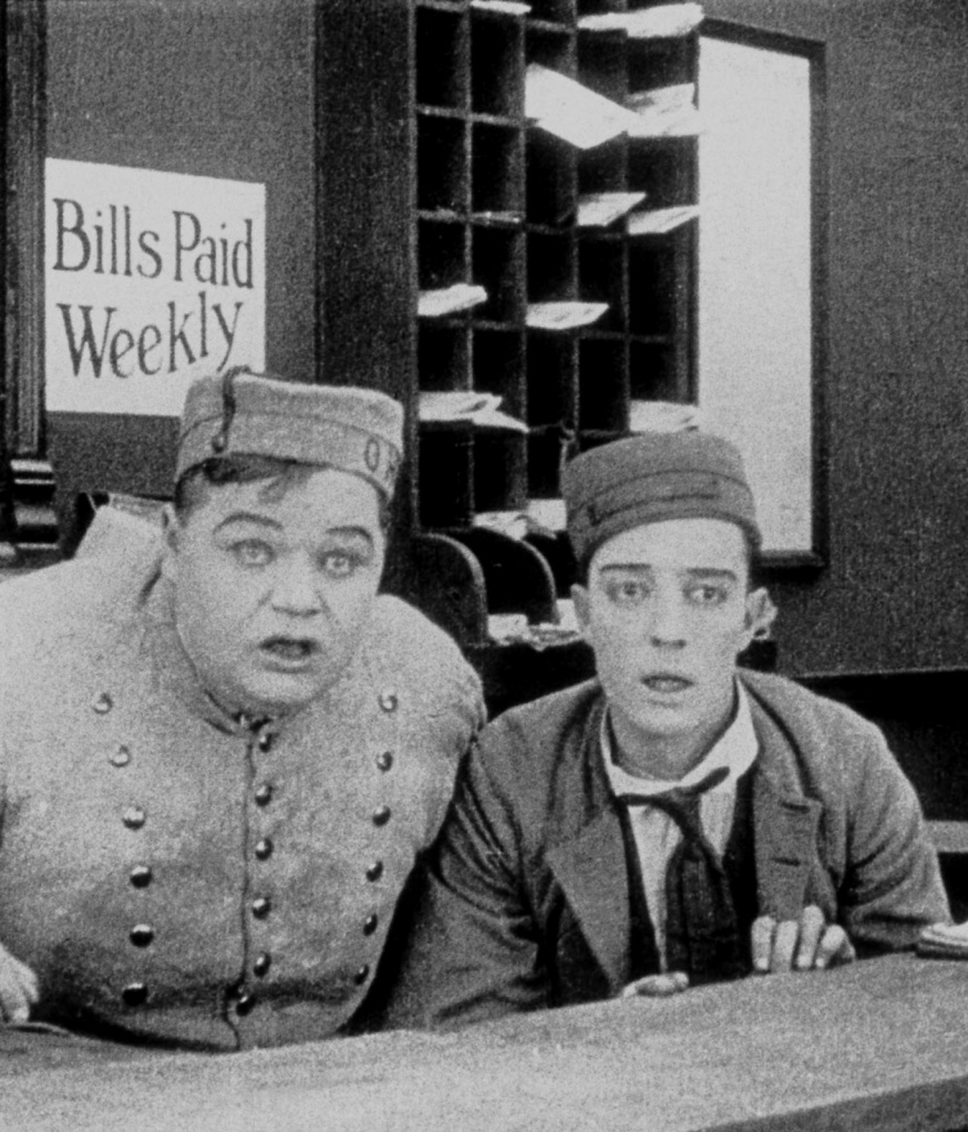 Buster Keaton and Fatty Arbuckle in The Bell Boy