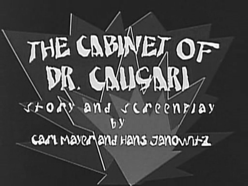 The Cabinet of Dr. Caligari Title Card